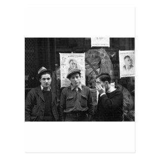 Résistances de rue pour le FDR : 1936 Carte Postale