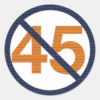 Résistez à 45 ! Résistez à l'atout ! Sticker Rond