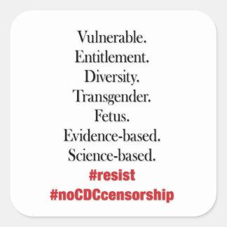 Résistez à la censure de CDC. Autocollants