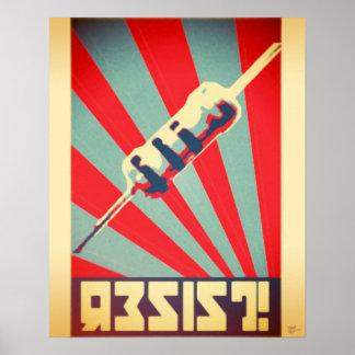 Résistez à l'affiche de propagande posters