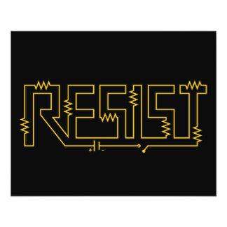 Résistez au diagramme électronique de résistance tract customisé