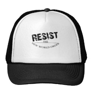 Résistez au nouvel ordre mondial casquettes de camionneur