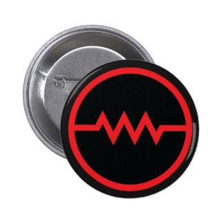 Résistez ! bouton de symbole (rouge) badges