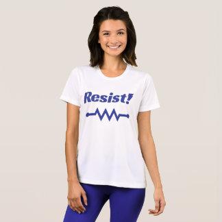 Résistez ! T-shirt sportif (bleu)