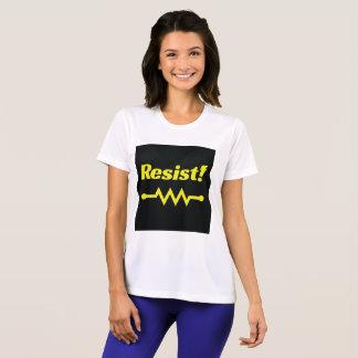 Résistez ! T-shirt sportif (noir/jaune)