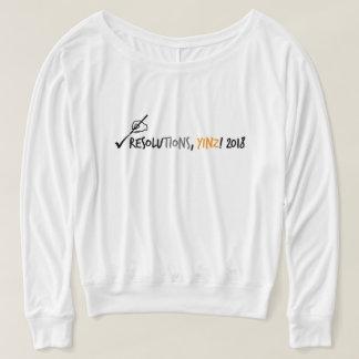 Résolutions, T-shirt 2018 de Yinz