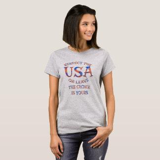 Respect Etats-Unis ou T-shirts et habillement de
