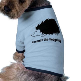 Respectez le hérisson t-shirt ringer pour chien