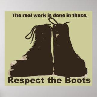 Respectez les bottes : Quels VRAIS travailleurs po Posters