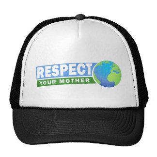 Respectez votre mère - le jour de la terre - casquettes