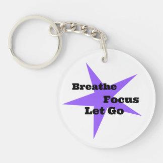 Respirez, focalisez, laissez aller - rappel de porte-clefs