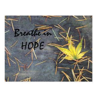 Respirez la carte postale d'espoir