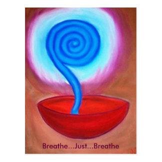 Respirez respirent juste la carte postale