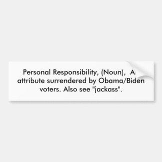 Responsabilité personnelle, (nom), un attribut… autocollant de voiture