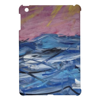 Ressacs abstraits et coucher de soleil coque iPad mini