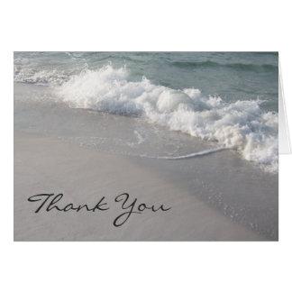 Ressacs et carte de remerciements de sable