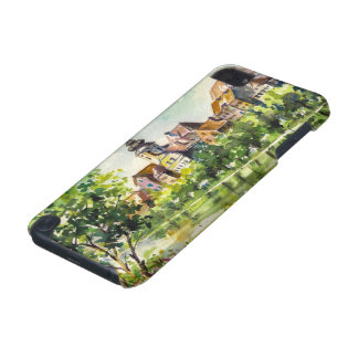 Ressort dans la petite ville sur la rivière coque iPod touch 5G