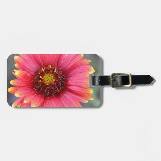 Ressort en fleur étiquette pour bagages