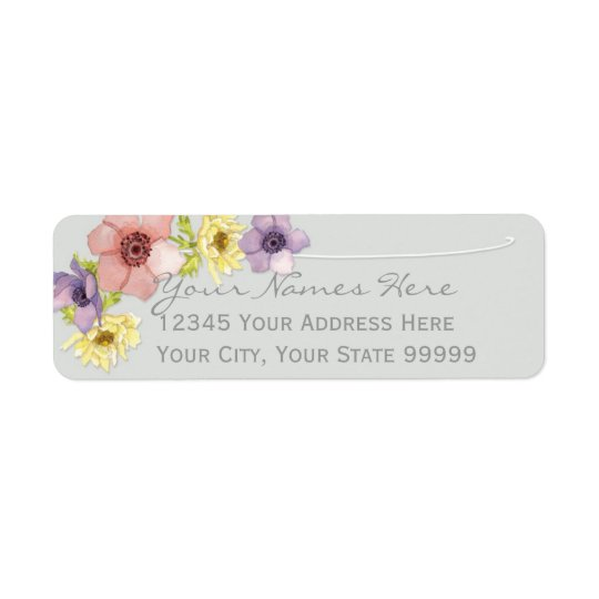 Ressort en lettres rustique floral moderne de typo étiquettes d'adresse retour