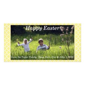 Ressort/jaune heureux carte photo de Pâques Cartes Avec Photo
