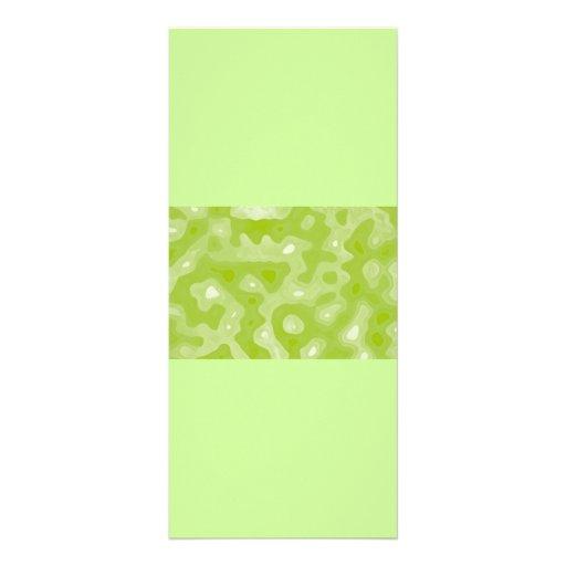Ressort motif vert et blanc d'abrégé sur double carte personnalisée