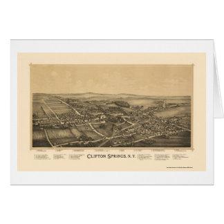 Ressorts de Clifton, carte panoramique de NY -