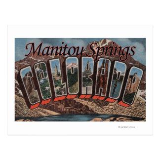 Ressorts de Manitou, le Colorado - grandes scènes Carte Postale