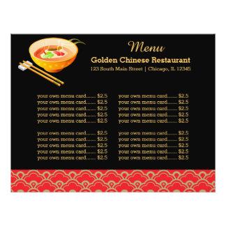 Restaurant de Chinois de menu Prospectus 21,6 Cm X 24,94 Cm
