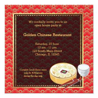 Restaurant de Chinois d'ouverture officielle Cartons D'invitation Personnalisés
