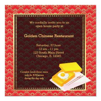 Restaurant de Chinois d'ouverture officielle Faire-part Personnalisables