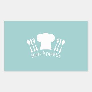 Restaurant ou cuisine français d'Appetit de fève Sticker Rectangulaire