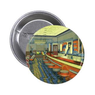 Restaurant vintage, rétro intérieur de pin's