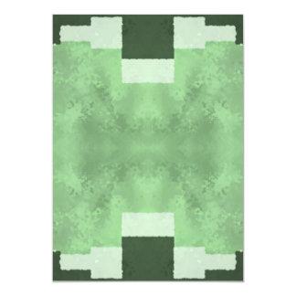 Résumé aux nuances du vert carton d'invitation  12,7 cm x 17,78 cm