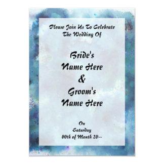 Résumé bleu carton d'invitation  12,7 cm x 17,78 cm