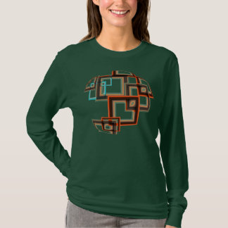 Résumé - carrés géométriques t-shirt