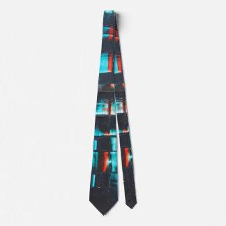 Résumé en bleu et rouge cravates