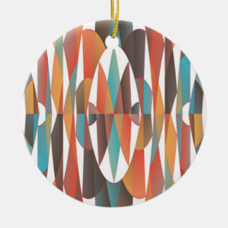Résumé géométrique coloré ornement rond en céramique