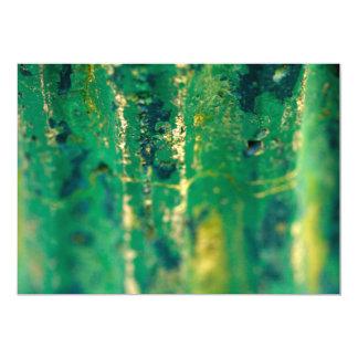 Résumé vert carton d'invitation  12,7 cm x 17,78 cm