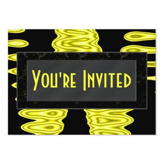 résumés jaunes carton d'invitation  12,7 cm x 17,78 cm