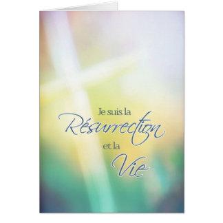 Résurrection de La de suis de Je, Pâques religieus Carte De Vœux