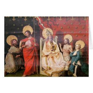 Retable dépeignant le Christ avec St Thomas Carte De Vœux