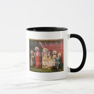 Retable dépeignant le Christ avec St Thomas Tasses