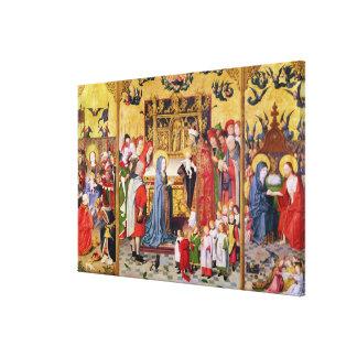 Retable des sept joies de la Vierge Toiles