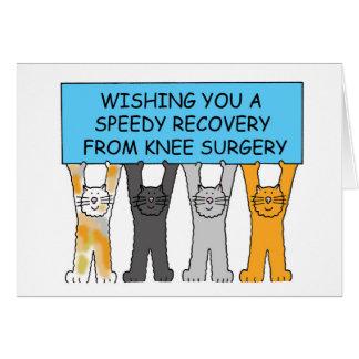 Rétablissement de chirurgie de genou prompt avec carte de vœux