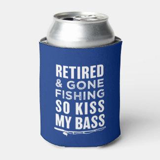Retiré et allé pêcher ainsi le baiser ma boîte rafraichisseur de cannettes