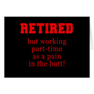 Retiré mais travaillant à temps partiel comme cass carte de vœux