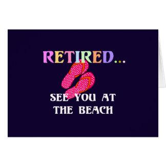 Retiré… voyez-vous à la plage cartes