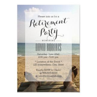 Retirez aux invitations de partie de retraite de