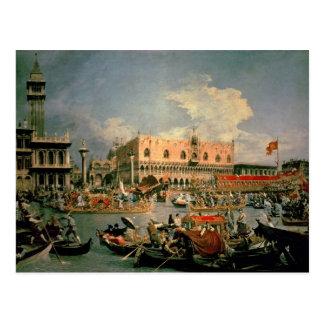Retour du Bucintoro le jour d'ascension Cartes Postales
