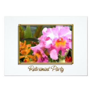 Retraite colorée de Cattleyas Carton D'invitation 12,7 Cm X 17,78 Cm
